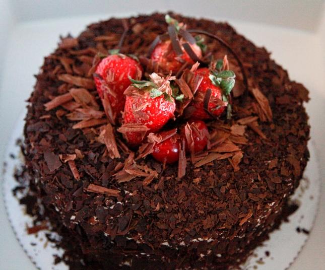 Black Forrest Cake from Savoy Bakery in Spanish Harlem