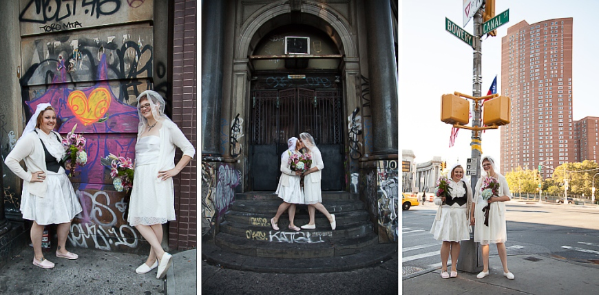 NYC Elopement Photographer Bowery and Canal Portrait